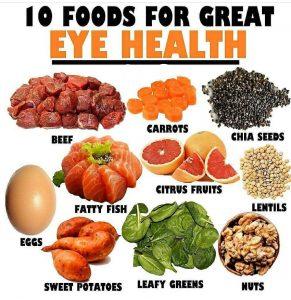 Nạp đủ chất dinh dưỡng để mắt luôn khoẻ là rất cần thiết